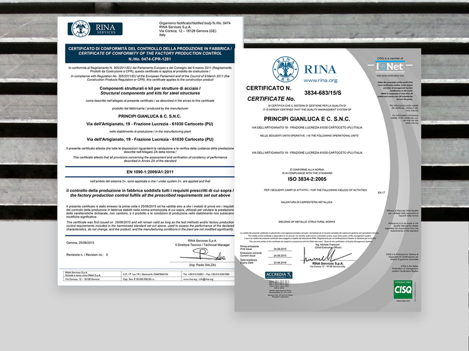 azienda certificata per prodotti da costruzione e saldatura con robot